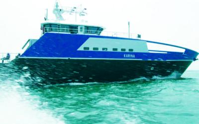 MV Karina awarded Distinctive Vessel of the Year by Marine Log Magazine