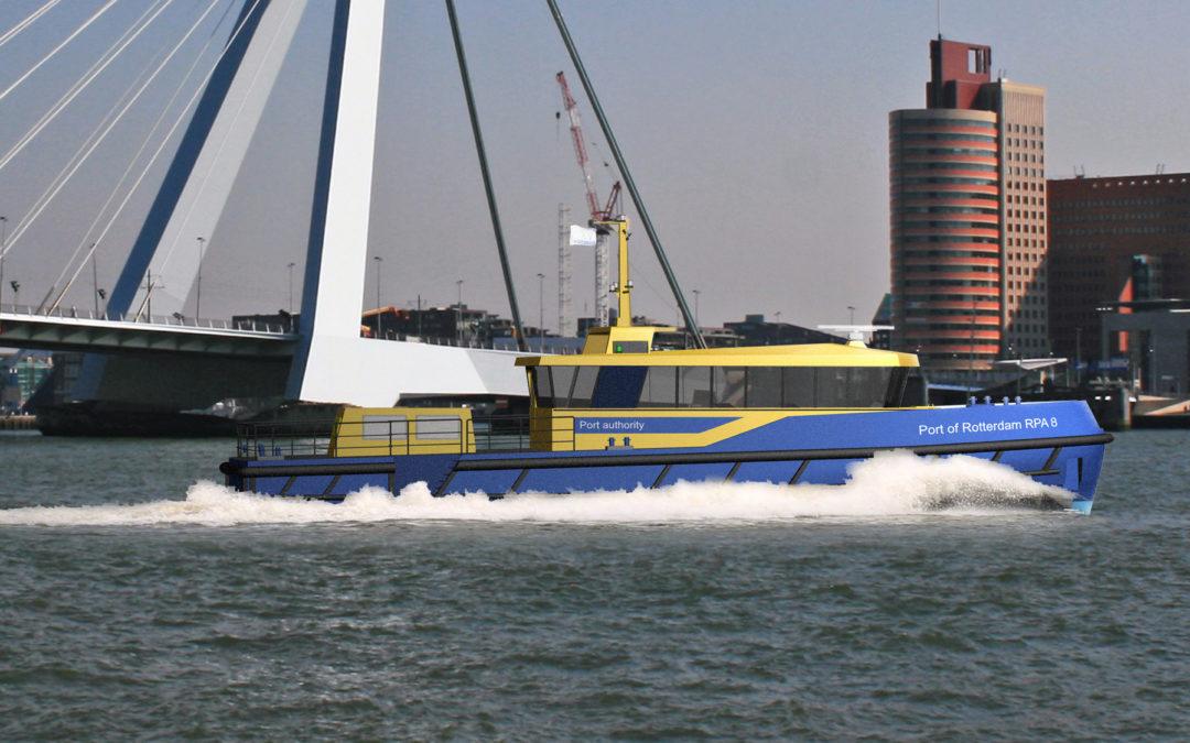 Hull Vane on new patrol vessel for Port of Rotterdam